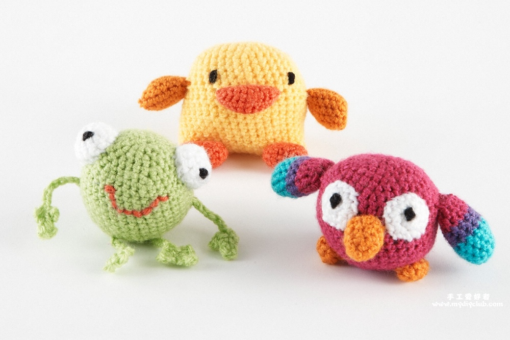 Mini Amigurumi Frog,Parrot,And Duck-?????