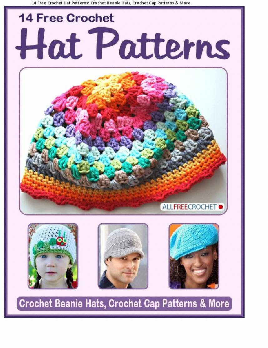 14 Free Crochet Hat Patterns Crochet Beanie Hats Crochet Cap Patterns and More.jpg